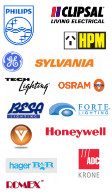 Philips, Clipsal, HPM, GE, Sylvanis, Osram, Tech, & Other Electrical Brand Names